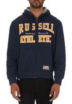 Russell Athletic - Zip-through Hoodie Navy