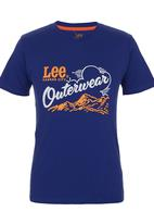 Lee  - Outerwear T-shirt Mid Blue