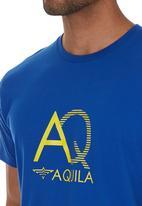 Aquila - Billy Print Tee Mid Blue
