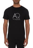 Aquila - Billy Print Tee Black
