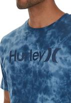 Hurley - One and Only Lightning Wash T-shirt Mid Blue