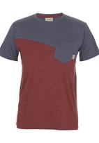 555 Soul - Cut and Sew T-shirt Red