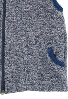 Sam & Seb - Fleece Sleeveless Hoodie Mid Blue