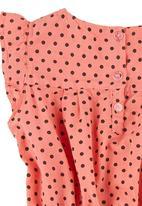 TORO CLOTHING - Polka Dot Dress Coral