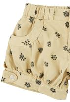 TORO CLOTHING - Printed Shorts Yellow
