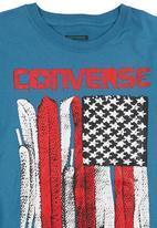 Converse - Lace Flag T-shirt Mid Blue