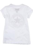 Converse - T-shirt with All Star Print White