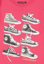Converse - T-shirt with Multiple Sneakers Print