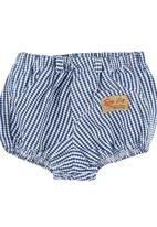 TORO CLOTHING - Check Bloomers Blue/White
