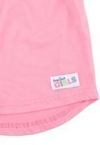 Precioux - Top with Flutter Sleeves Dark Pink