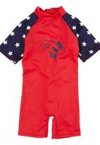 Sun Things - Sunsuit with Front Zip Red