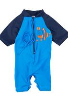 Sun Things - Sunsuit with Poppers Navy