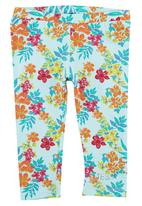 GUESS - Girls Leggings with Floral-print Multi-colour