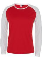 edge - Printed Raglan Sleeve Tee Red