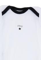 Basic Beings - Onesie with Sleep Print Black/White