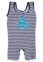 Sun Things - Bodysuit with Anchor Print Black/White