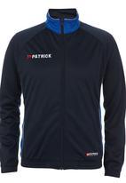Patrick - Girona Zip-through Hoodie Mid Blue