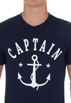 STYLE REPUBLIC - Anchor T-shirt Navy