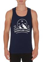STYLE REPUBLIC - Graphic-print Vest Navy