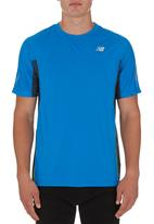 New Balance  - Short Sleeve Ice Tee Mid Blue