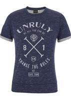 Unruly Clothing - Baseball T-shirt Mid Blue