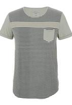 S.P.C.C. - Slub Stripe T-shirt Grey