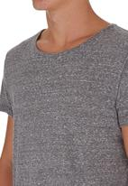 STYLE REPUBLIC - T-shirt with Rolled-up Sleeves Pale Grey