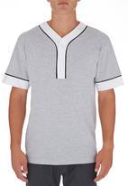 STYLE REPUBLIC - Baseball-style T-shirt Pale Grey Pale Grey