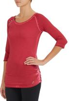 GUESS - 3/4 sleeve molly tee Red