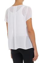 edit - Pleated Blouse White