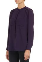 G Couture - Blouse with shoulder pads Purple