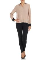 G Couture - Colourblock blouse Stone
