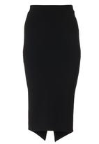 Suzanne Betro - Midi Ponte Skirt Black