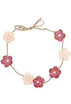 Jewels and Lace - Flower Crown Headband Red