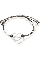 Jewels and Lace - Heart 2-pack Bracelet Set Multi-colour