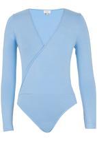 edit - Wrap Bodysuit Pale Blue Pale Blue