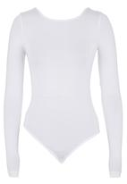 c(inch) - Bodysuit with Open Back White