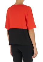 STYLE REPUBLIC - Colourblock Boxy Top Orange/Black