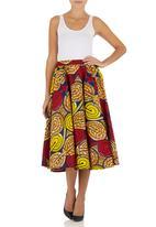 AfroDizzy - African-print Midi Skirt Multi-colour
