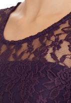 edit - Lace Top Dark Purple Dark Purple