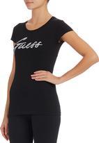 GUESS - Bling Logo T-shirt Black