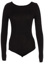 c(inch) - Bodysuit with Open Back Black