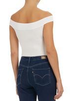 c(inch) - Off-the-shoulder Bodysuit Milk