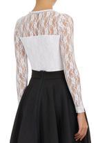 c(inch) - Lace Bodysuit White