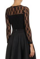 c(inch) - Lace Bodysuit Black