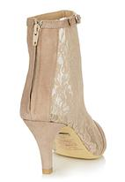 Sam Star - Leather and Lace Boots Neutral