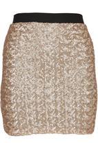 c(inch) - Sequin Mini Skirt Gold