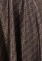 c(inch) - High-waist Mini Skater Skirt Gold Gold