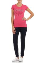 GUESS - Nash Logo T-shirt Dark Pink