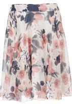 edit - Floral A-line Skirt Multi-colour